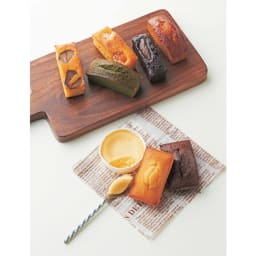 PATISSERIE SANGA(パティスリー サンガ) フィナンシェ&パンドジェンヌ詰合せ ※丸い容器に入ったベイクドチーズケーキは本商品に含まれません。