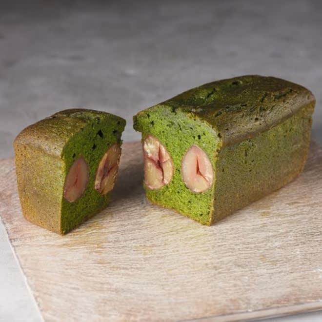 南山城村 京丹波栗入りお濃い抹茶パウンドケーキ お濃い抹茶パウンドケーキはずっしりと濃厚です!