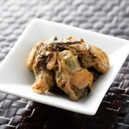 【生産者応援】北海道産 牡蠣の甘露煮 (80g×4パック) 盛り付け例
