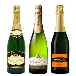 【通常お届け】シャンパン入りスパークリングワインセット (750ml 各1本) 写真