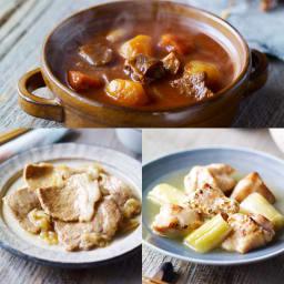 イザメシデリ 3種セット(塩麹チキン&生姜焼き&ビーフシチュー) 計9袋 盛り付け例