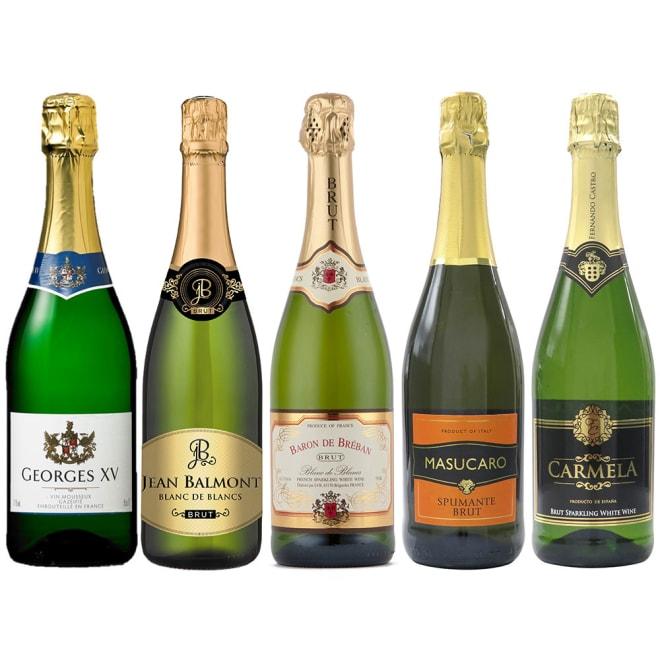 辛口スパークリングワイン 5種セット ※ヴィンテージは変更になることがあります ※ラベルデザインが変更になることがあります。