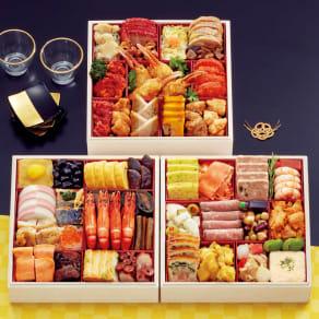 札幌グランドホテル 「彩の宴」 和洋中三段重(約4~5人前) 全44品  写真
