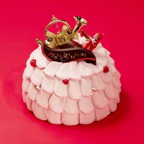 梅月堂 プリンセス クリスマスケーキ 5号(直径約15cm) 写真