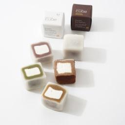 モチキューブ4種15個入り 【盛り付け例】四角い生クリーム大福!4種類の味をお楽しみください。