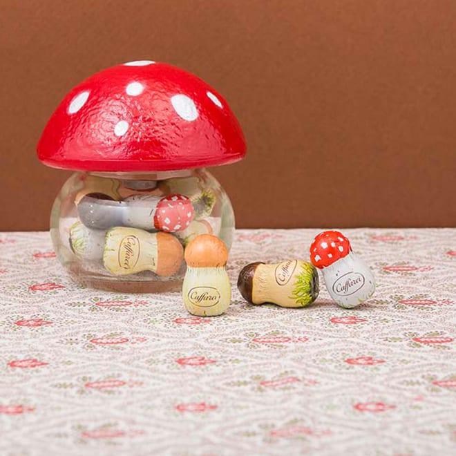 caffarel/カファレル きのこポット赤(9粒 97g) 【商品イメージ】イタリア老舗ブランド「カファレル」の定番商品<br />ころんと可愛い「きのこポット赤」
