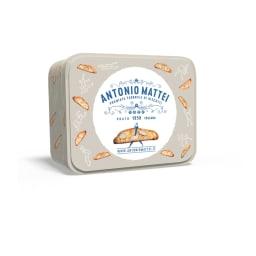 アントニオマッティ・カントチーニ・スクエア缶 1858創業、老舗カントチーニブランド。イタリアを代表する伝統菓子「カントチーニ」スクエア缶で登場!