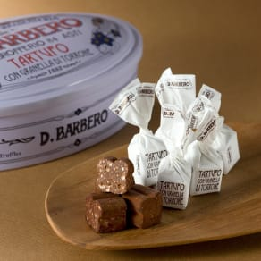 D.BARBERO/バルベロ トリュフ白缶 トロンチーニ入り (12粒)【バレンタインデーお届け】 写真