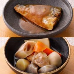 6年保存 鯖味噌煮&筑前煮 【盛り付け例】