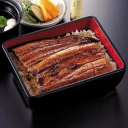 【お中元】愛知三河産 うなぎ蒲焼 2尾 (7月中旬お届け) 盛り付け例:愛知三河産のうなぎになります。1枚約115gと食べやすい大きさです。湯煎や電子レンジで美味しいうなぎが食べられます。