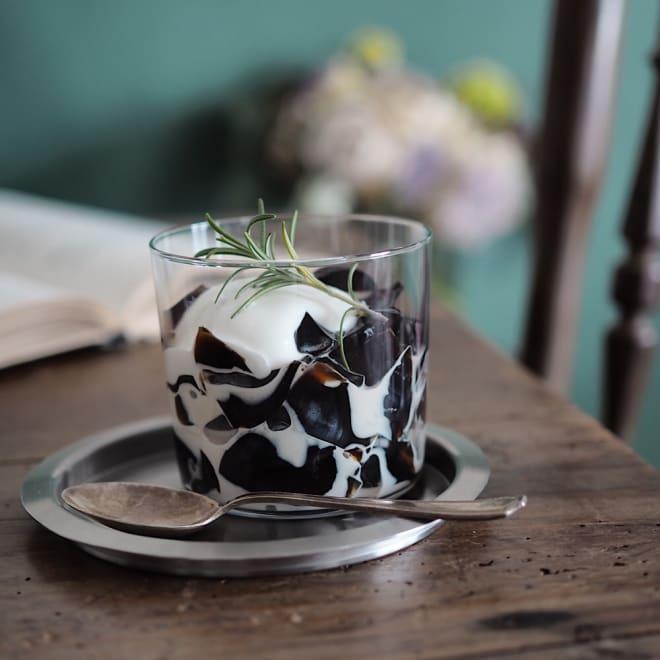 「リエコーヒー」 水出しコーヒーゼリー (100g×10個) ※盛り付け例