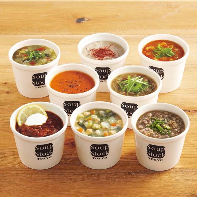 「スープストックトーキョー」和のスープと夏の人気スープセット 【盛り付け例】1袋分のスープを盛り付けております。※スープカップは付いておりません。