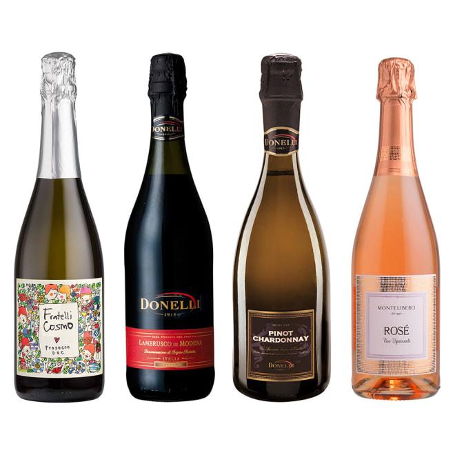 ソムリエ厳選!イタリア・スパークリングワイン4種セット 世界でも大人気のイタリアスパークリングワイン「プロセッコ」が入った、イタリアスパークリングワインの4本セットです。