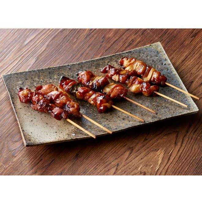 【おつとめ品】国産鶏の焼き鳥セット(タレ味) 3種計30本 【盛り付け例】タレ味3種セットです