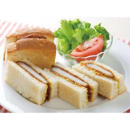 【業務用食材・食品】レンジでクイック ロースカツ (95g×20個) 調理例:カツサンド