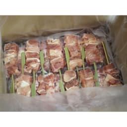 国産若鶏モモ串 (35g×30本) 必要な分だけ解凍して、あとは焼くだけ。