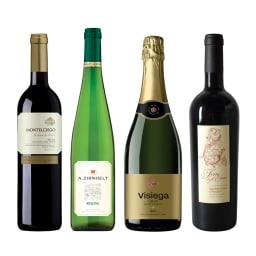 ソムリエ厳選 おすすめ定番デイリーワイン4種 ※ヴィンテージは変更になることがあります ※ラベルデザインが変更になることがあります。