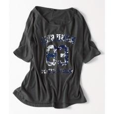 ラグランスリーブ ロゴTシャツ(サイズM)