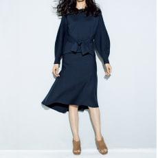 ミラノリブ編み使い フレアースカート