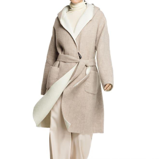 フェルラ社 ベビーアルパカ ダブルフェイス 一重仕立てコート コーディネート例 /「フェルラ」が誇るベビーアルパカの優しいラグジュアリーを纏う。