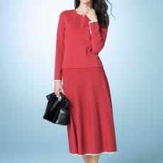 総針編み 配色デザイン フレアースカート