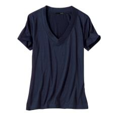 美デコルテ(R)テンセル混半袖Tシャツ