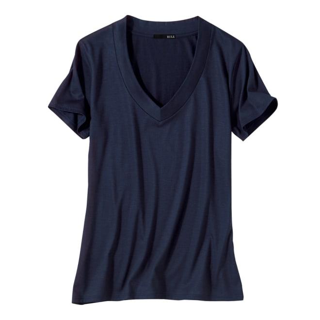 美デコルテ(R)テンセル混半袖Tシャツ (イ)グレー コーディネート例