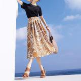グログラン素材 フラワープリント スカート 写真