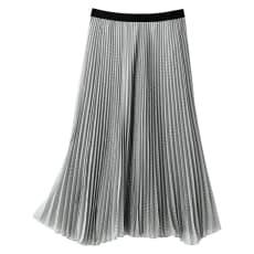 ドットプリント シフォンプリーツ スカート