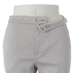 (股下丈68cm)フランス素材 ジャカード 九分丈パンツ