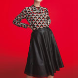ANONYME/アノニム 星型パンチング フェイクレザースカート 写真