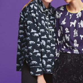 フランス素材 トラとヒョウのプリントシャツ 写真