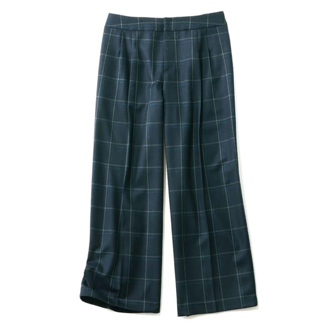 (股下丈60cm)イタリア素材 「リッチェリ」 チェック柄 パンツ