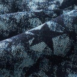 フォックスファー付き イタリア素材 星柄ジャカード リバーシブル ダウンベスト 生地アップ