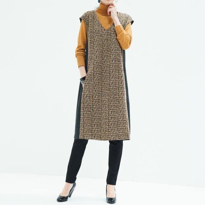ブークレジャカード使い ジャージージャンパースカート(大きいサイズ) コーディネート例