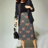 スペイン製生地 セミタイトスカート 写真