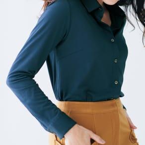フィラメントシルクコットンジャジーシャツ 写真