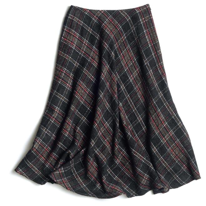 Faliero Sarti/ファリエロ サルティ ウール混ガーゼ チェック柄 スカート