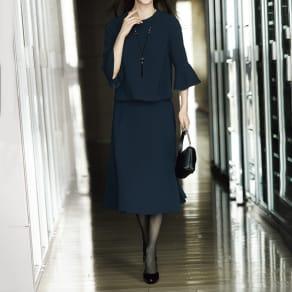 トリアセ混 二重織りジョーゼット スカート 写真