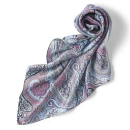 シルク混 ニットチュニック(スカーフ付き) スカーフ付き