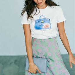 WORDROBE/ワードローブ プリントTシャツ ※今回こちらのお色の販売はございません。参考画像です。