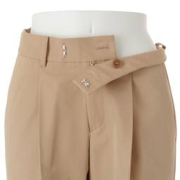 (股下丈74cm) スーピマコットン混 裾ダブルデザイン パンツ