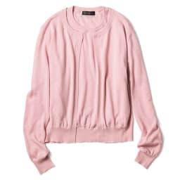 カリアッジ社 梳毛カシミヤ 半袖プルオーバー (イ)ピンク ※カーディガンは別売り(商品番号:PC52-63)です。