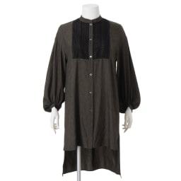 ケミカルレース使い ロングシャツ(大きいサイズ)