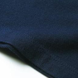 洗えるコットンベア天 Vネック 半袖Tシャツ ステッチ