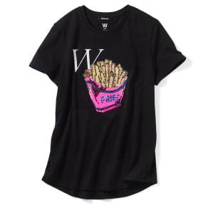 WORDROBE/ワードローブ スパンコールデザインTシャツ 写真