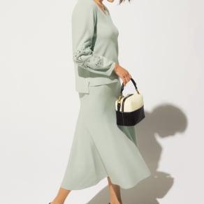 ニットフレアスカート 写真