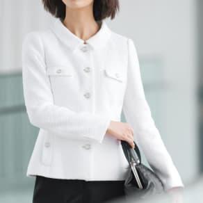 フランス素材 ツイードジャケット 写真