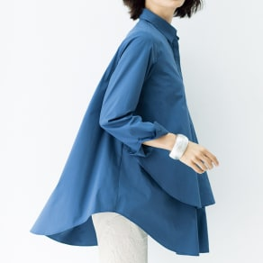 ティアードデザイン スキッパーシャツチュニック 写真
