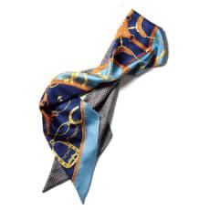 シルク リバーシブル ナロー スカーフ